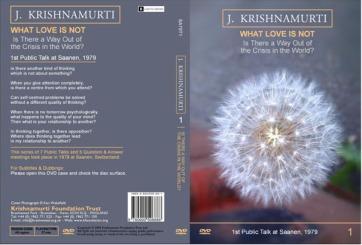 Krishnamurti - Ce nu este Iubirea (What Love is Not)